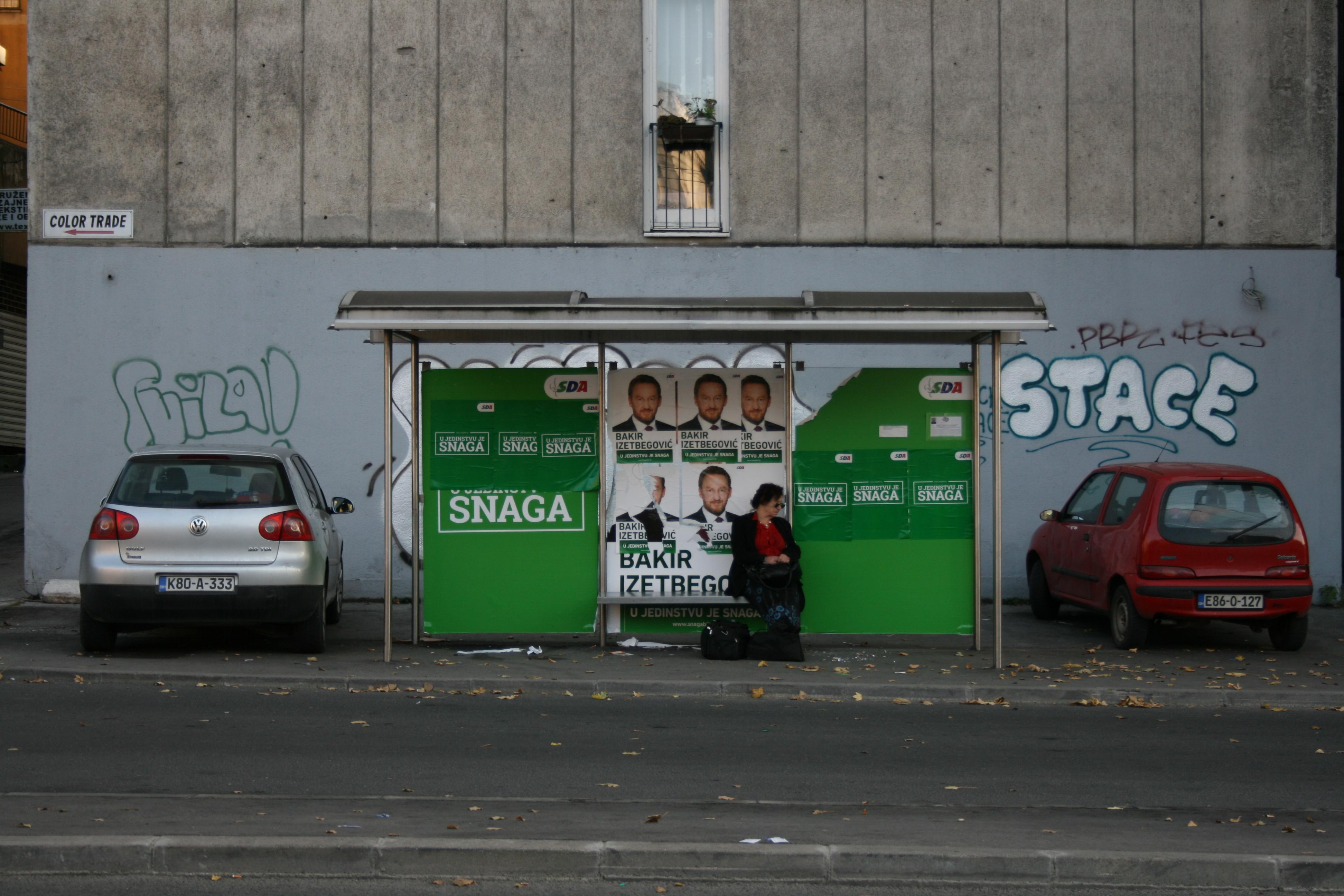 Op verkiezingscampagne in Sarajevo