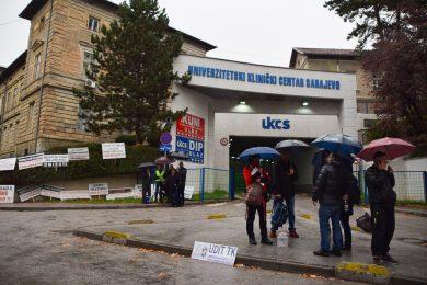 Sarajevo protest hospital